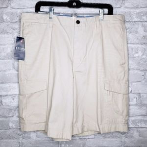 NWT Chaps Men's Flat Front Cargo Shorts - 36